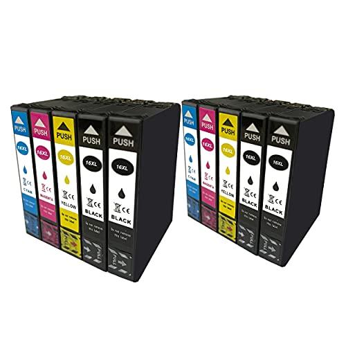 Hyggetech 10x Druckerpatronen als Ersatz für Epson 16XL 16 Multipack Kompatible...