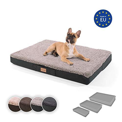 brunolie Balu mittleres Hundebett in Grau, waschbar, orthopädisch und...