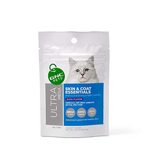 GNC Pets Ultra Mega Skin & Coat Essentials Weiches Kauen für Katzen, 30 Stück...