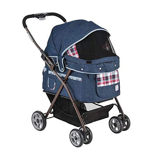 GXWLWXBB 4 Wheel Travel Pet Kinderwagen-Buggy for kleine und mittlere Katzen und...