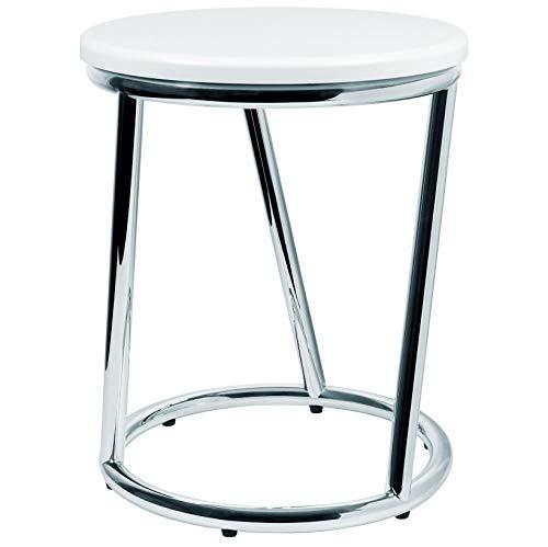 Badhocker Salina außergewöhnliches Design Metall Chrom glänzend Sitzfläche...