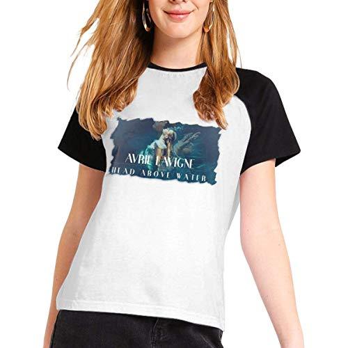 Avril Lavigne Womans Short Sleeve Raglan Baseball T-Shirts Cotton Casual Print...