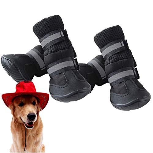 HEELPPO Hundestiefel Hundeschuhe Wasserdicht Hundeschuhe für große Hunde...