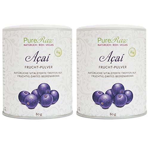 Acai-Beeren-Pulver Gefriergetrocknet (Bio Rohkost Vegan) Açaí-Frucht Superfood...