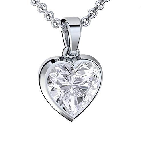 Amoonic Herzkette Silber 925 Premium Etui mit *Ich Liebe Dich* Gravur Halskette...
