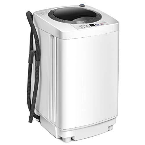COSTWAY Waschmaschine, Waschvollautomat Toplader, Miniwaschmaschine / 3,5kg /...