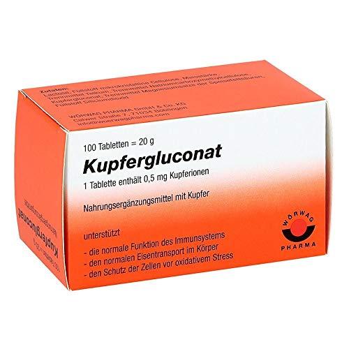 WÖRWAG Pharma Kupfergluconat Tabletten, 100 St. Tabletten