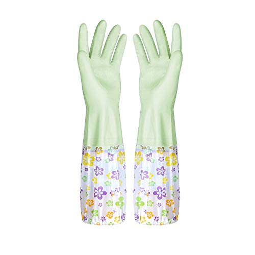 H-OUO Reinigung Handschuhe, Haltbare Handschuhe, plus Samt dicker Gummi,...
