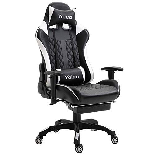 YOLEO Gaming Stuhl, bequemer Gaming Sessel 150 kg Belastbarkeit, Kunstleder PC...