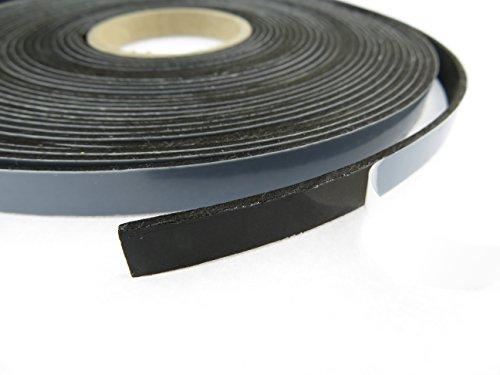 EPDM - Schaum Schwarz 10 mm x 2 mm. Länge: 10 m auf Rolle. einseitig...