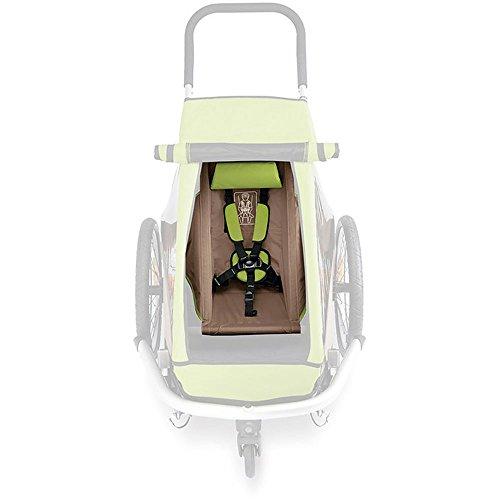 Croozer Unisex– Erwachsene Kinderanhänger Fahrradanhänger, grau, 1size
