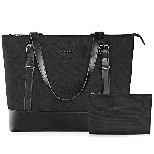KROSER Laptop Damen Handtasche Schwarz Handtaschen Elegant Taschen Shopper...
