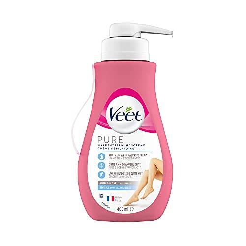 Veet Sensitive Haarentfernungscreme – Schnelle & effektive Haarentfernung für...