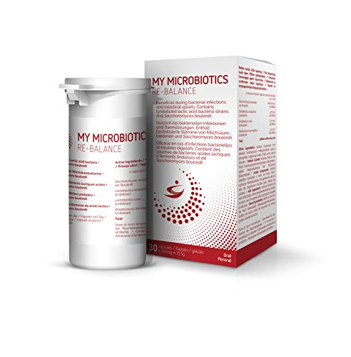 My Microbiotics Re-Balance - 30 vegane Kapseln mit probiotischer Hefe und...