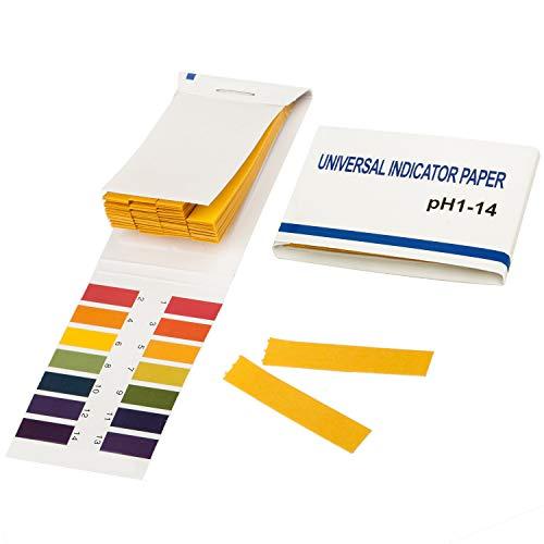 TRIXES Lackmuspapier mit einem pH-Wert-Bereich 1-14, Packung mit 80 Teststreifen...