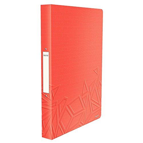 Leitz, Ringbuch, Für bis zu 140 Blatt A4, 2,6 cm Rückenbreite, PP, Rot, Urban...