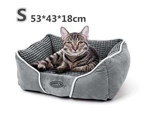 Pecute Hundebett Haustierbett für Katzen und Hunde Rechteck Ultra Weicher...