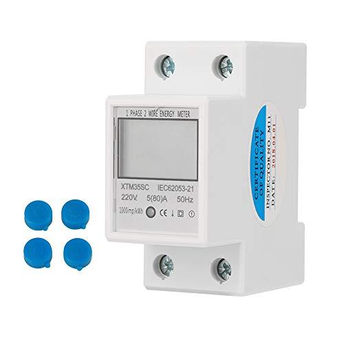 Digitaler 1-phasiger 2-poliger 2P-DIN-Schienen-Stromzähler Elektronischer...