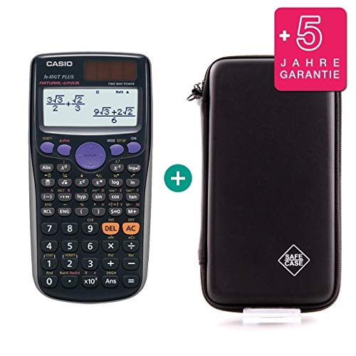 Casio FX 85 GT Plus Schwarz + Schutztasche + Erweiterte Garantie