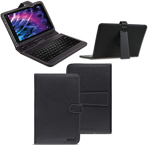 NAUC Tastatur Tasche kompatibel für Medion Lifetab S10351 S10352 Keyboard USB...