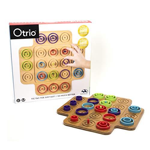 Marbles 6045064 - Otrio - Taktikspiel mit hochwertigem Holz-Spielmaterial (inkl....