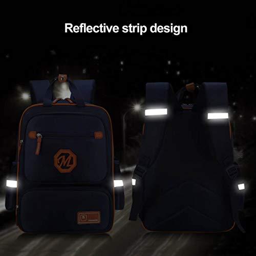 Ergonomisches Design Schützen Wirbelsäule Reflexstreifen Rucksack mit großer...