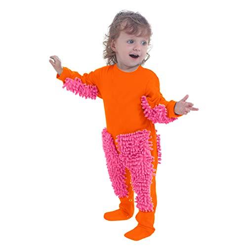 OVERMAL Baby Mopp Strampler Outfit Kleinkind Kriechen Overall Junge Mädchen...