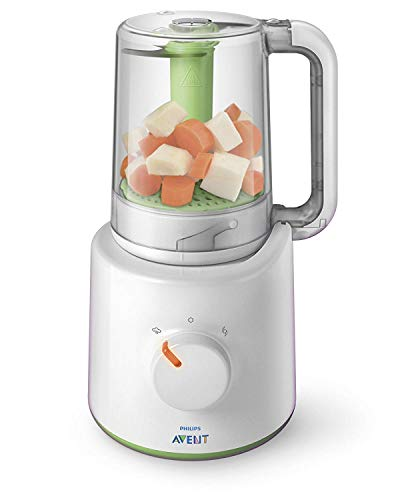 Philips Avent 2-in-1 Babynahrungszubereiter SCF870/20, Dampfgaren und Mixen,...