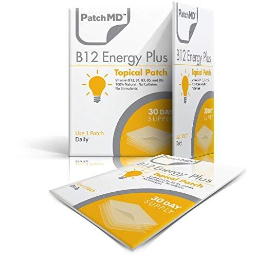 PatchMD - B12 Energy Plus Topical Patch - Natürliche Inhaltsstoffe, hilft...