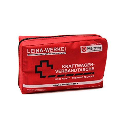 Leina 13164 Verbandtasche Compact ohne Klett, Rot / Schwarz / Weiß