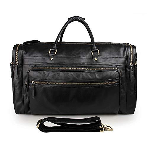 AFCITY Reisetasche Übernachtung Taschen Sporttasche High-Capacity Leder...