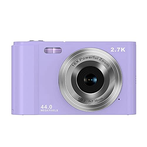 LEAMER Digitalkamera, 6,9 cm (2,7 Zoll) Vlogging Kompaktkamera LCD...