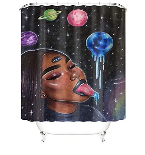 Duschvorhang Polyester Textil Waschbar Shower Curtain 3D Wasserdicht...