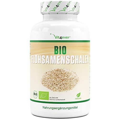 Bio Flohsamenschalen - 365 vegane Kapseln - 3000 mg je Tagesdosis - Premium:...