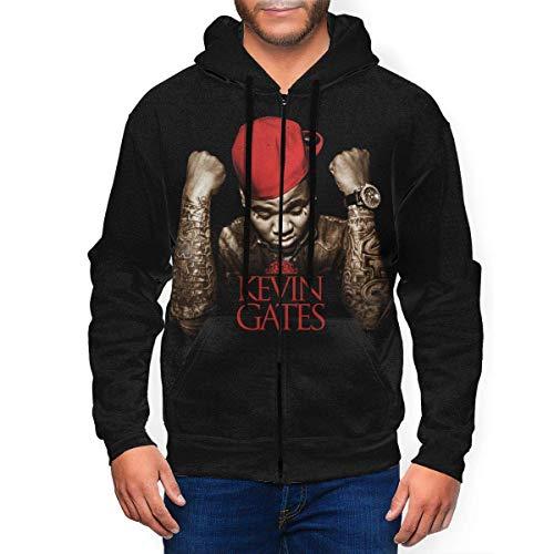 shenqiwww Kevin Gates Mens Casual Full Zip Sweatshirt
