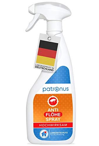 Patronus Anti Floh-Spray für die Wohnung 500ml - biologisch abbaubares Mittel...