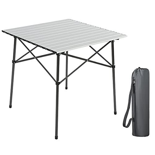 EVER ADVANCED Campingtisch Klapptisch mit Aluminium Tischplatte faltbar leicht...