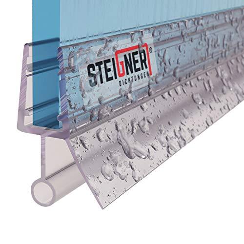 STEIGNER Duschdichtung, 80cm, Glasstärke 3,5/4/ 5 mm, Gerade PVC Ersatzdichtung...