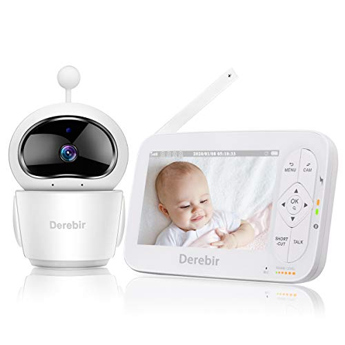 Babyphone mit Kamera Video Baby Monitor720P HD 5 Zoll Zoomende Funktion...