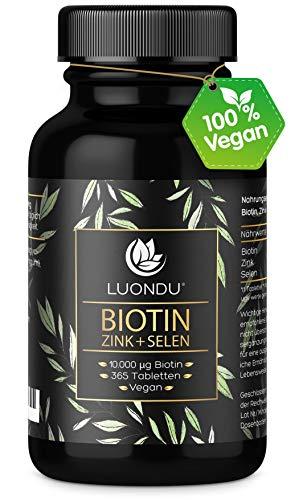 Luondu Biotin hochdosiert 10.000 mcg pro Tablette (365 vegane Tabletten für 1...