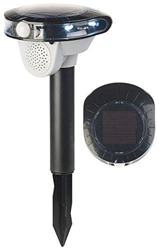 Royal Gardineer Vogelabwehr: Solar-Vogelschreck, Bewegungs-Sensor, 3 Sounds,...