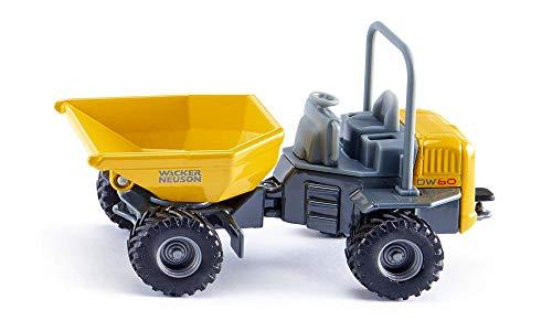 siku 3509, Wacker Neuson DW60 Dumper, 1:50, Metall/Kunststoff, Gelb/Grau, Kipp-...
