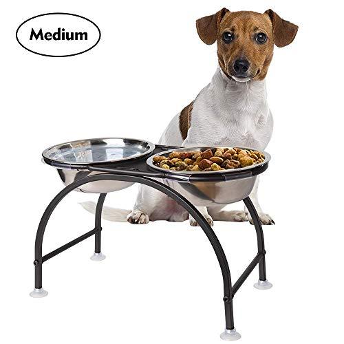 HomeMall Hundebar Hundenapf,Futternapf Napfständer Hundebar Hundnäpfe für...