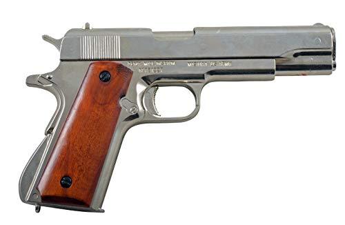 Denix Replik 45er US-Colt Government M1911A1 nickelfarben USA 1911 Colt Waffe