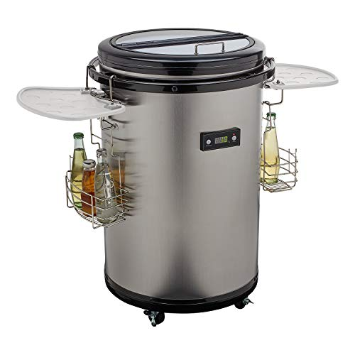 MEDION Party Kühlfass (Mini-Kühlrschank, Getränkekühlschrank, 48 Liter...