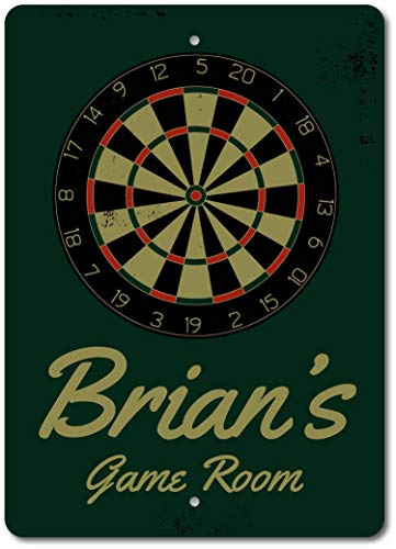 Inga Dart Board Schild Dart Room Schild Dart Loverman Cave Decor Metallschild...