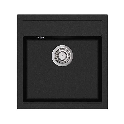 Granit Einbauspüle Küchenspüle Spülbecken Spüle inkl. Excenterbedienung...