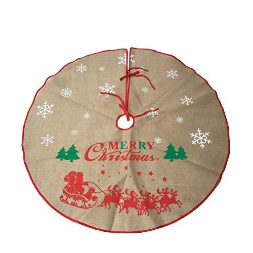 Toyvian Weihnachtsbaum Rock Leinen Weihnachtsbaumdecke Baumdecke Christbaum...