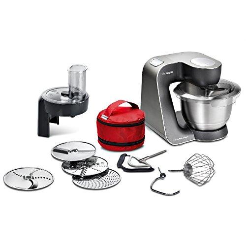 Bosch Küchenmaschine MUM5 HomeProfessional MUM59N26DE, Edelstahl-Schüssel 3,9...