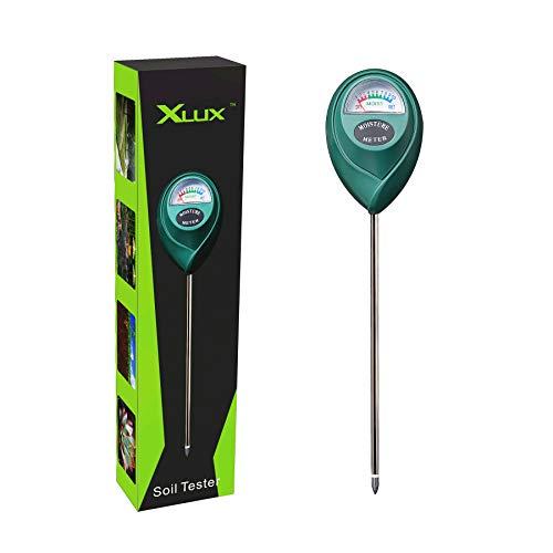 XLUX Boden-Feuchtigkeitsmessgerät, Boden-Feuchtigkeitsmesser, Hygrometer für...
